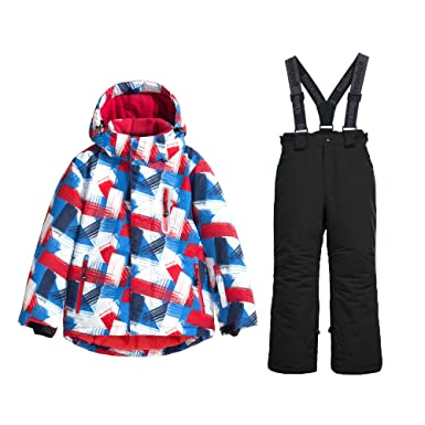 5f83d4612c2d Amazon.com  GS SNOWING Girls and Boys 2 Piece Ski Suit Insulated ...