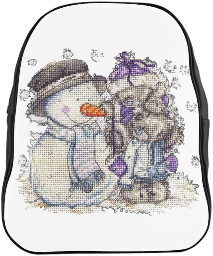 Two Teddy Bears And A Snowman School Backpack Small