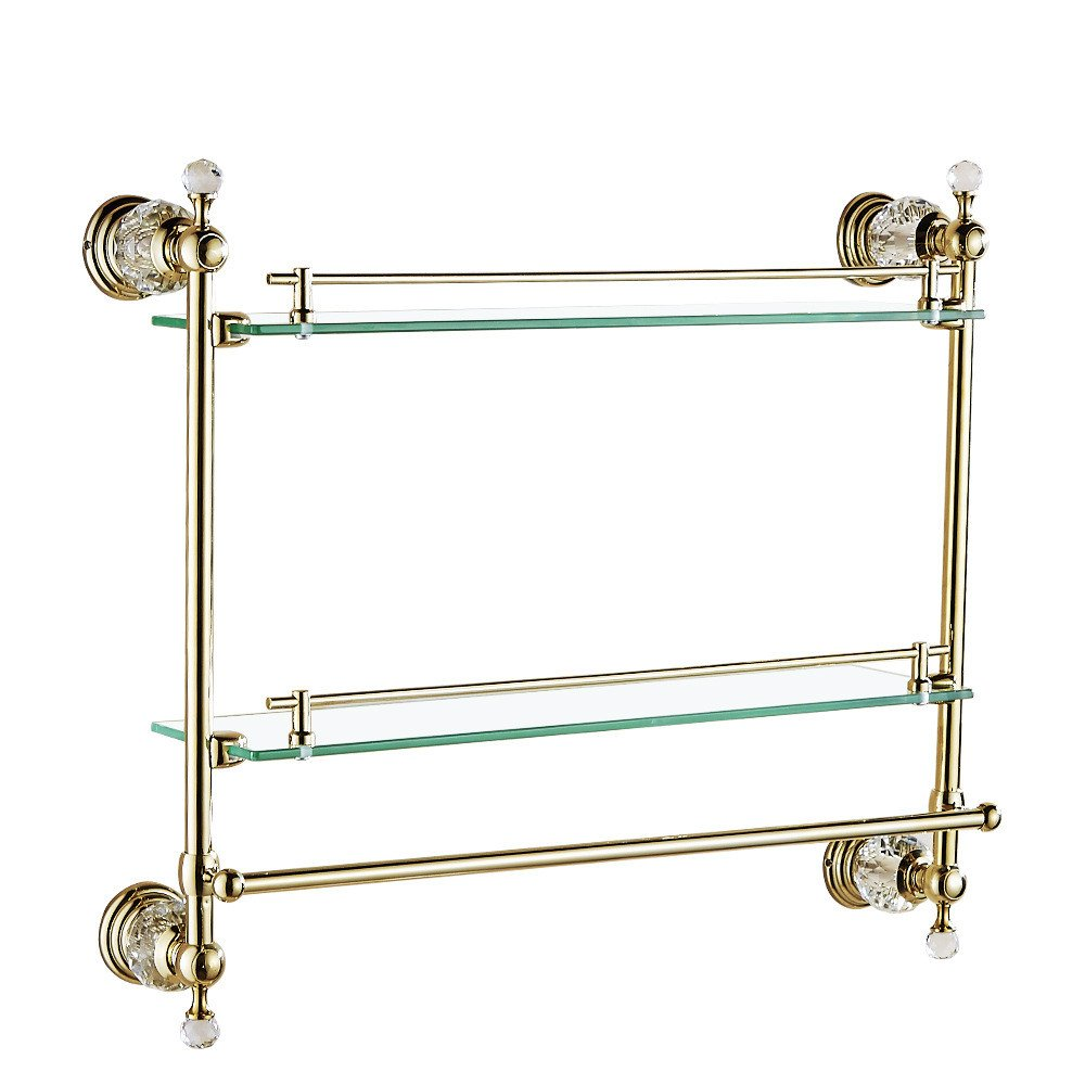 Bathroom wall is set Bathroom accessories Antique gold crystal brass polished Into the wall Bathroom hardware accessories,Double glazed windows built-in shelf