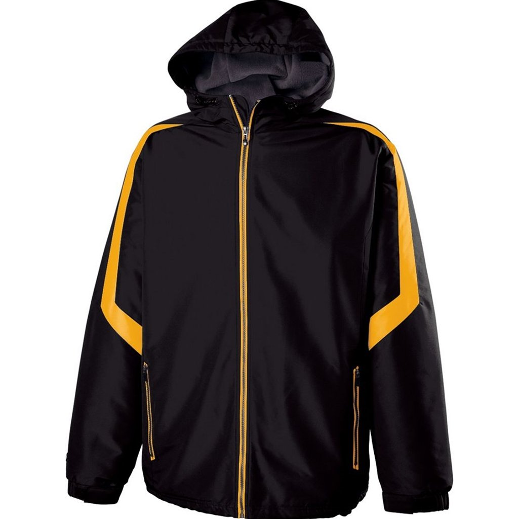 Holloway Youth Charger Jacket (Small, Black/Light Gold) by Holloway