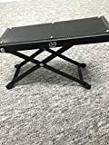 DownBeat Guitar Foot Rest - Adjustable Height Stool w/ Premium Steel Construction - 4.5 to 8.8 Inches