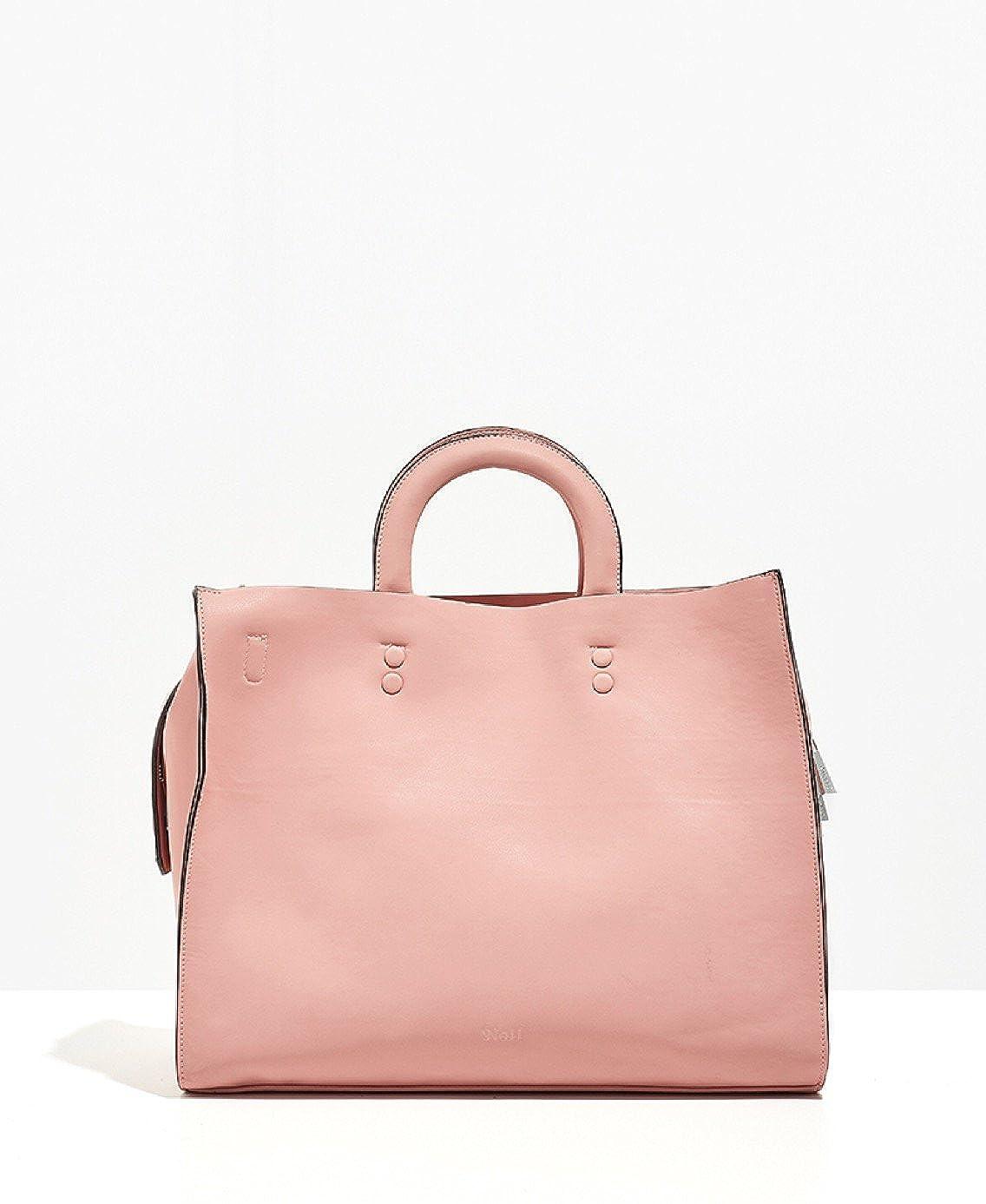 95f8d062e6 Borsa Nalì due manici a mano + tracolla regolabile e removibile + pochette  estraibile, in ecopelle, rosa: Amazon.it: Scarpe e borse