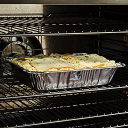 Disposable Steam Table Pans for Baking, Roasting, Broiling, Cooking , Storage Aluminum Foil Steam Table Pans, Half Size Deep, 9x13 Pans Pack Of 30