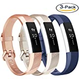 Vancle For Fitbit Alta HR Bands and Fitbit Alta Bands (3 PACK), Newest Sport Replacement Wristbands with Secure Metal Buckle for Fitbit Alta HR/Fitbit Alta