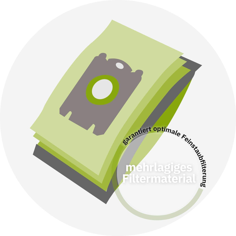 122 E /Compatible con Swirl UNI30 /6 Bolsa de Polvo eVendix Bolsa para aspiradora Adecuada para STIHL SE 122