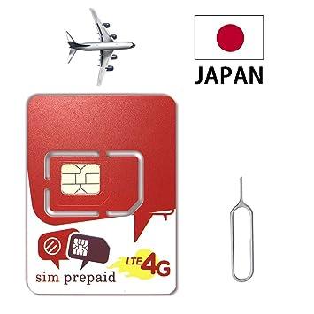 Docomo Travel Japan Data - Tarjeta SIM (1 GB, 4G y 256 kbps ...