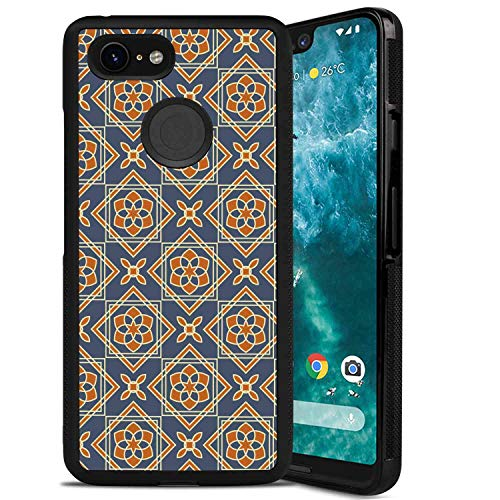 - Phone Case Compatible for Google Pixel 3 XL (6.3 Version) Vintage Little Daffodils Florets Delicate Features Arabian Style Yard Blooms Corsage Dark Blue Orange