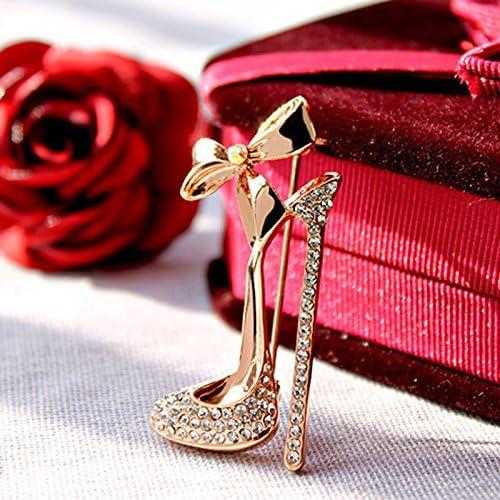 Gespout Elegante Moda Spilla Lady Spilla Accessori Bowknot Tacchi Alti Strass Gioielli Regalo di Compleanno Adatto per le Donne