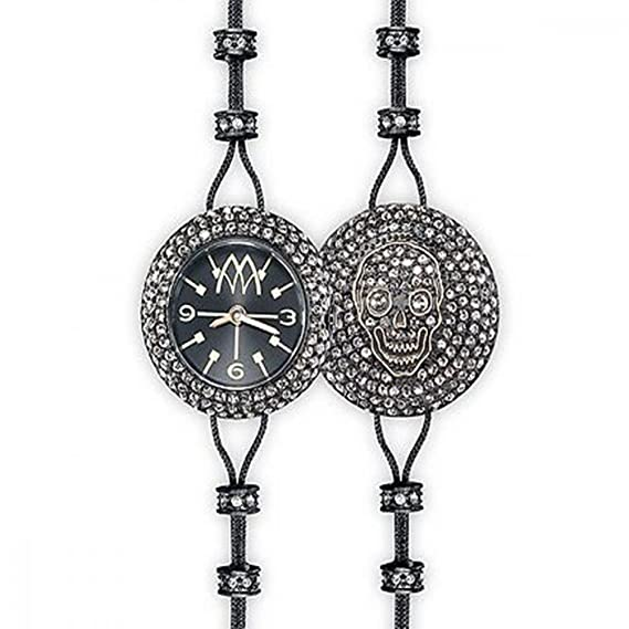 Reloj marco mavilla Pepito Reversible Skull Negro y Full purpurina psk03bk: Amazon.es: Relojes