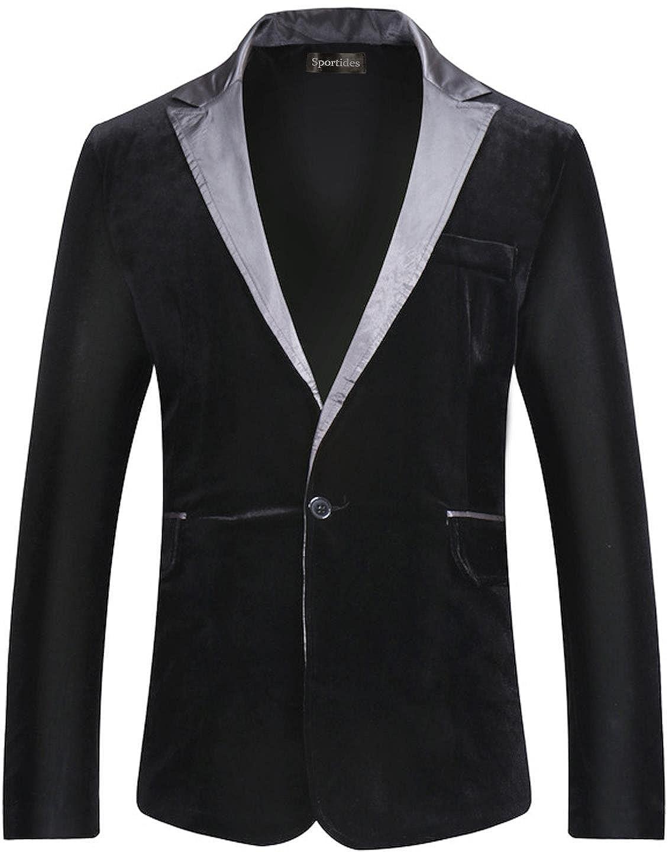 Sportides BLAZER メンズ B074XP5BGJ US L (Shirt Chest:45-46 inch)|ブラック ブラック US L (Shirt Chest:45-46 inch)