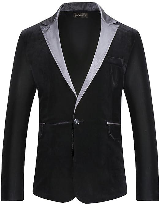 Sportides Uomo Fashion Slim Fit Casual One Button Blazer Jacket Suits  JZA127  Amazon.it  Abbigliamento e017356a578