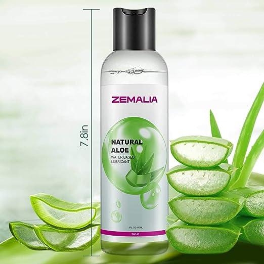 ZEMALIA | Gel lubricante sexual a base de agua íntimo de larga duración sabor aloe vera. Ideal para sexo anal, vaginal y oral |Natural 100%| ...