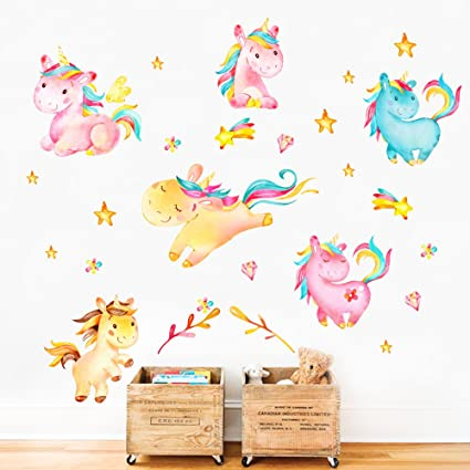 Wall Decals & Vinyl Art Flowers Tree Colorful Diy Decal Home Art Fairy Tail Flower Wall Stickers Decor Carefully Selected Materials Baby