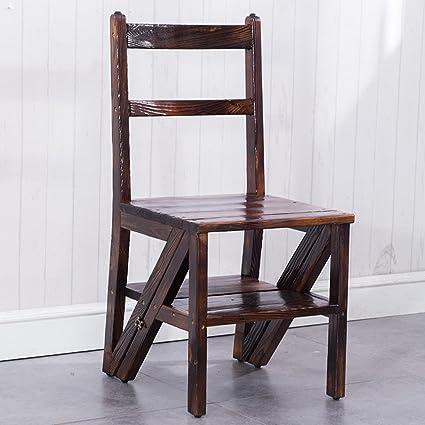 WSSF- Sgabelli da scaletta in legno massello a 3 gradini per uso ...