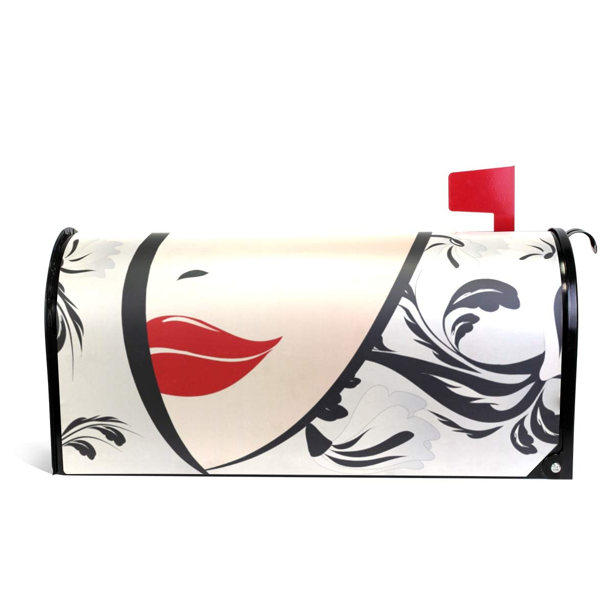 MAPOLO Floral Woman Magnetic Mailbox Cover Oversized