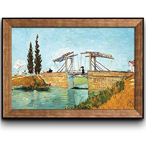 The Langlois Bridge by Vincent Van Gogh Oil Painting Impressionist Artist Framed Art