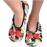 Snoozies Womens Multi Artisan Ballet Non-Skid Slipper Socks