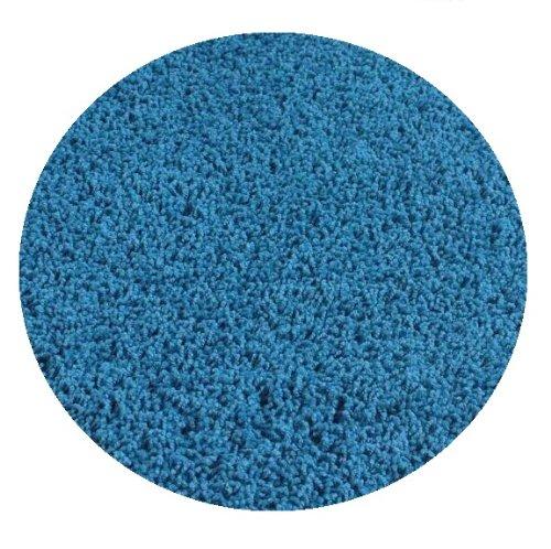 Bright Circus Blue - 5' ROUND Custom Carpet Area Rug by Children's Choice