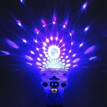 Colorful giratorio luz bombilla LED proyector linterna juguete ...