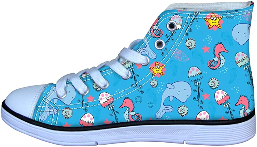 Coloranimal Leichte High Top Canvas Schuhe Für Kinder Unisex Cartoon Schnürschuhe Flache Schuhe Cartoon 4 Größe 32 Eu Schuhe Handtaschen