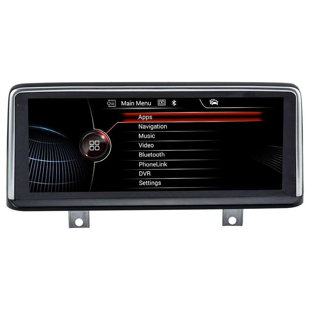 Rupse Autoradio GPS Système de Navigation Stéréo Voiture 10.25 pouces HD ?cran Tactile avec BT Musique/Mains Libres/SWC/HD pour 2011-Présent BMW3(F30,F31,F34,F35,F80), 2014--Présent BMW 4(F3