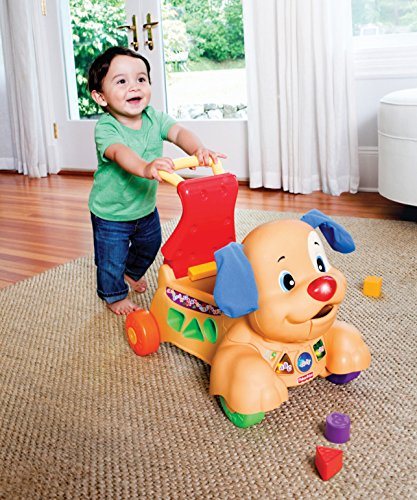 61FnF72pnDL - Fisher-Price Laugh & Learn Stride-to-Ride Puppy [Amazon Exclusive]