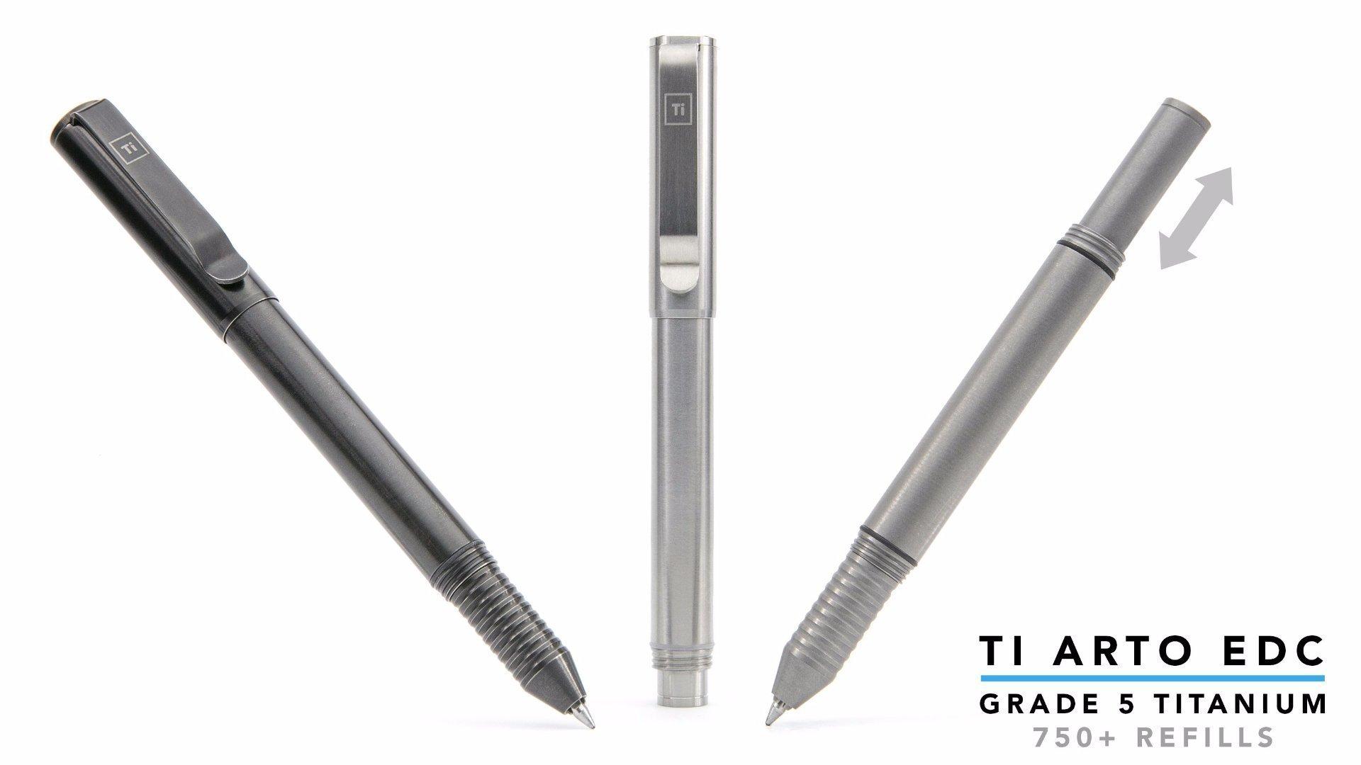 BIG IDEA DESIGN Ti Arto EDC : The Ultimate Refill Friendly Everyday Carry Pen (Stonewashed) by BIG IDEA DESIGN (Image #5)
