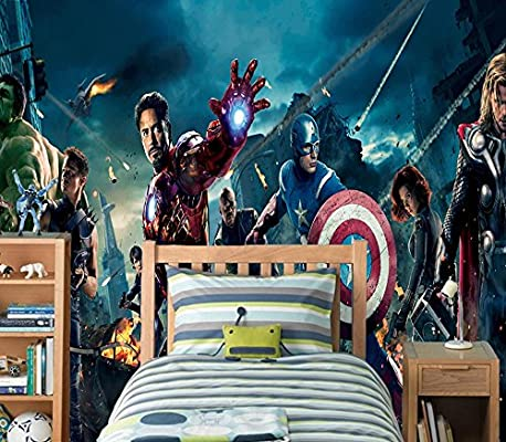 Photo Wallpaper Wall Mural Woven Self-Adhesive Art Avengers Marvel Iron Man M05