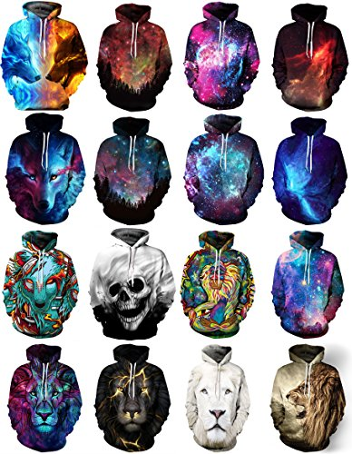Azuki 2018 Unisex Fashion 3D Digital Printed Pullover Hoodies
