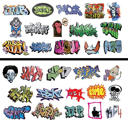 Scale Water Slide Decals - HO Scale Graffiti Waterslide Decals 2-Pack #6 - Weather Your Box Cars, Hoppers, & Gondolas!
