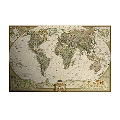 SSDXY Adult Jigsaw Puzzle 1000 Piece Wooden Puzzle Standard World Map for Teens and Adults,Very Good Educational Game: Toys & Games