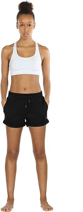 icyzone Femme Short de Sport Casual Yoga Fitness Elastique Short Jogging Pantalon Court Paquet de 2