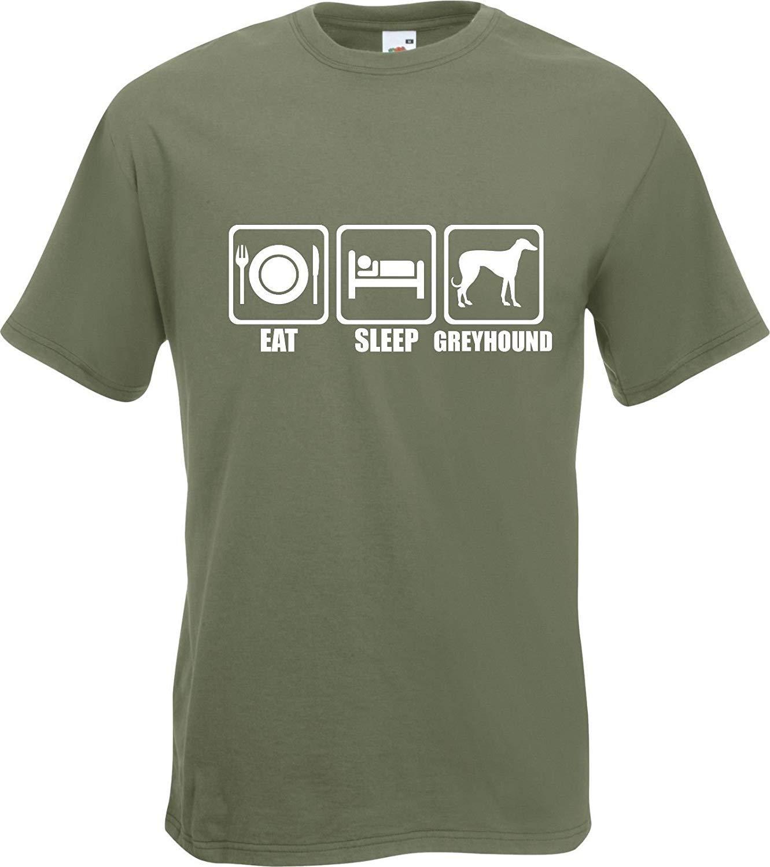 Summy Dogs S Eat Sleep Greyhound Dog Puppy Owner 2586 Shirts