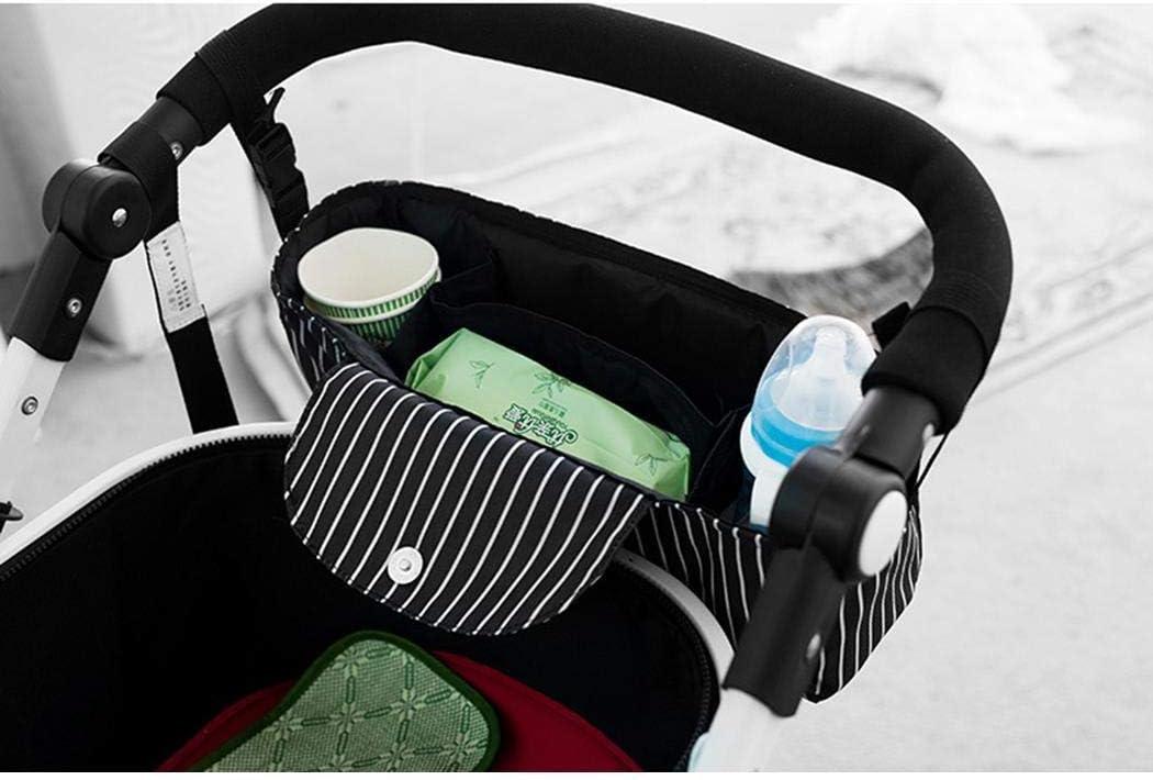 fnemo Kinderwagen Organizer,Terylene Kinderwagen h/ängen Taschen Speicherplatz f/ür Brieftaschen Handy B/ücher Windeln Flasche Spielzeug