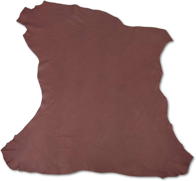 Zerimar Piel Cuero | Pieles Cuero Natural | Retales de Piel para Manualidades | Piel para Artesanos | Retal Cuero | Retales de Cuero | Color: camel | Medidas: 80x80 cm