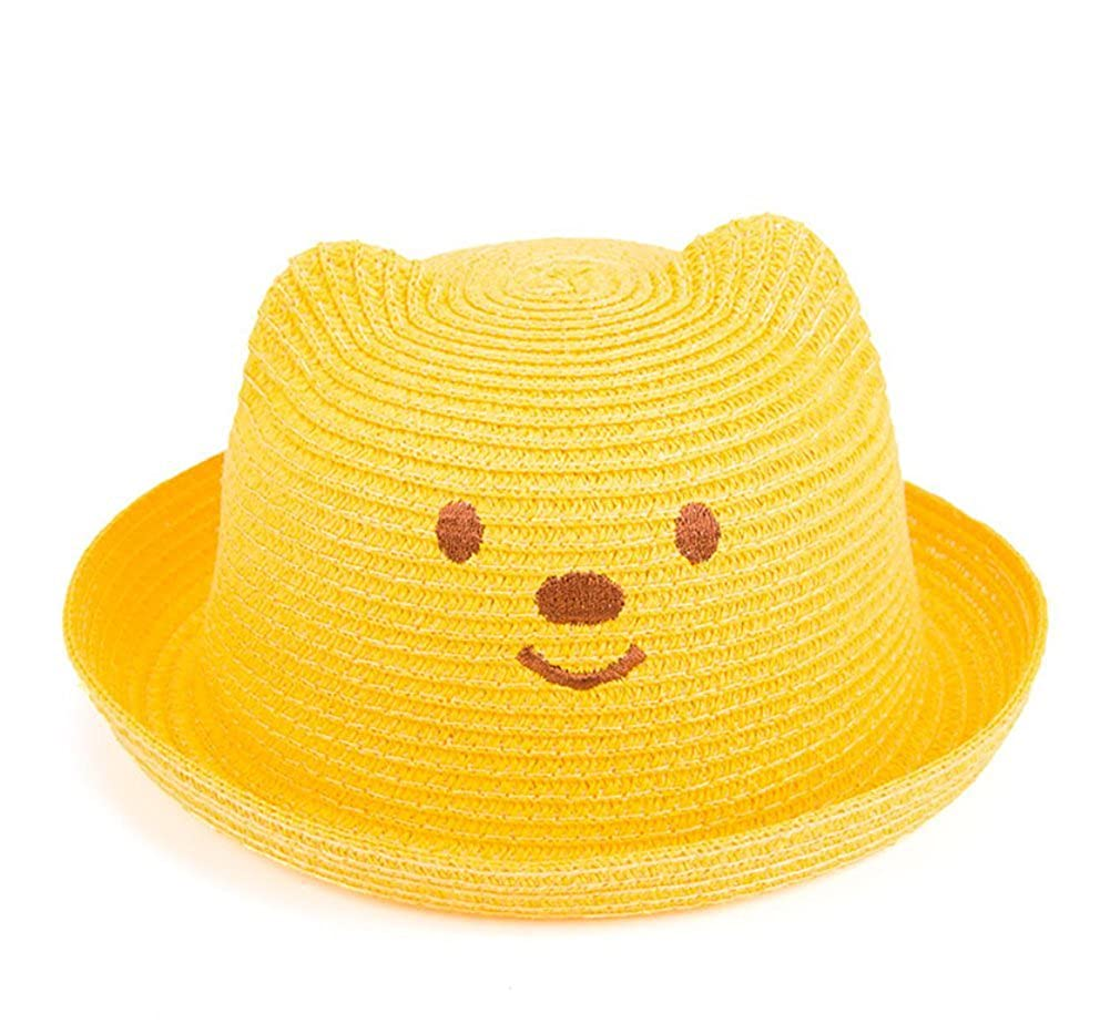 52700f5a TREESTAR Children Hat Korean Bear Hat Baby Visor Straw Hat Outdoor Sports  Camping Beach Leisure Cap 1PCS(Yellow): Amazon.co.uk: Clothing