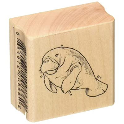 Stamps by Impression ST 0625a Manatee Rubber Stamp: Arts, Crafts & Sewing