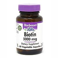 Bluebonnet Nutrition Biotin 5000 Mcg Vegetable Capsules, Biotin is a B Vitamin That...
