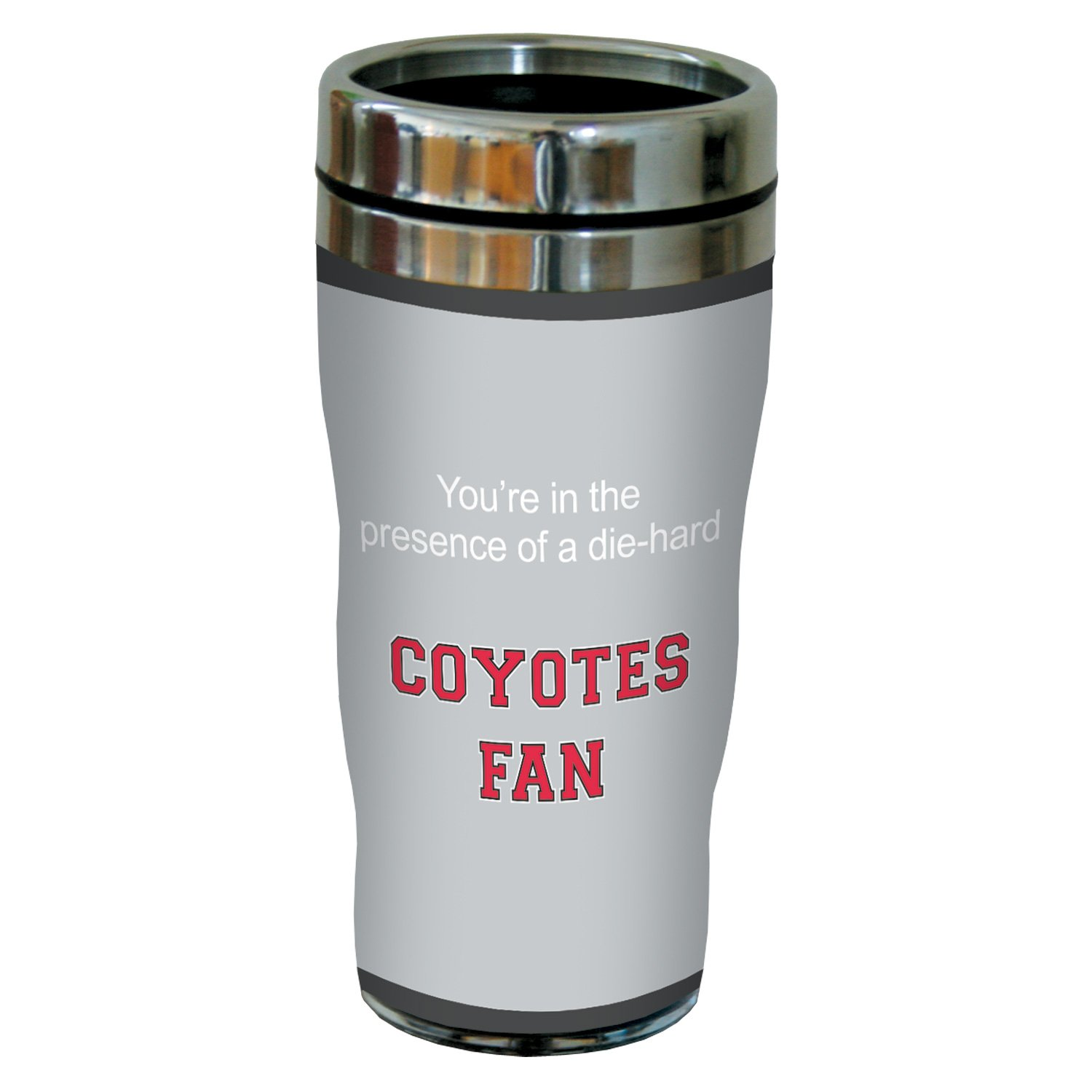 Tree-Free Greetings sg24884 Coyotes College Basketball Sip 'N Go Stainless Steel Lined Travel Tumbler, 16 Ounce