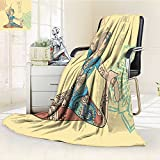 Luxury Double-sides Reversible Fleece Blanket Beautiful dance for life Couch Blanket,Travelling and Camping Blanket(60''x 50'')