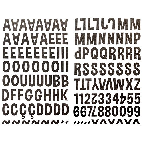 Adesivos Alfabeto Eva Marrom Ref.16103-ADF1596 Toke e Crie
