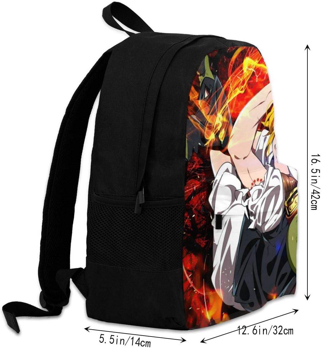 Cartoon Anime Seven Deadly Sins Business School Backpack Business Bag School Backpack for School Work Trekking Hiking