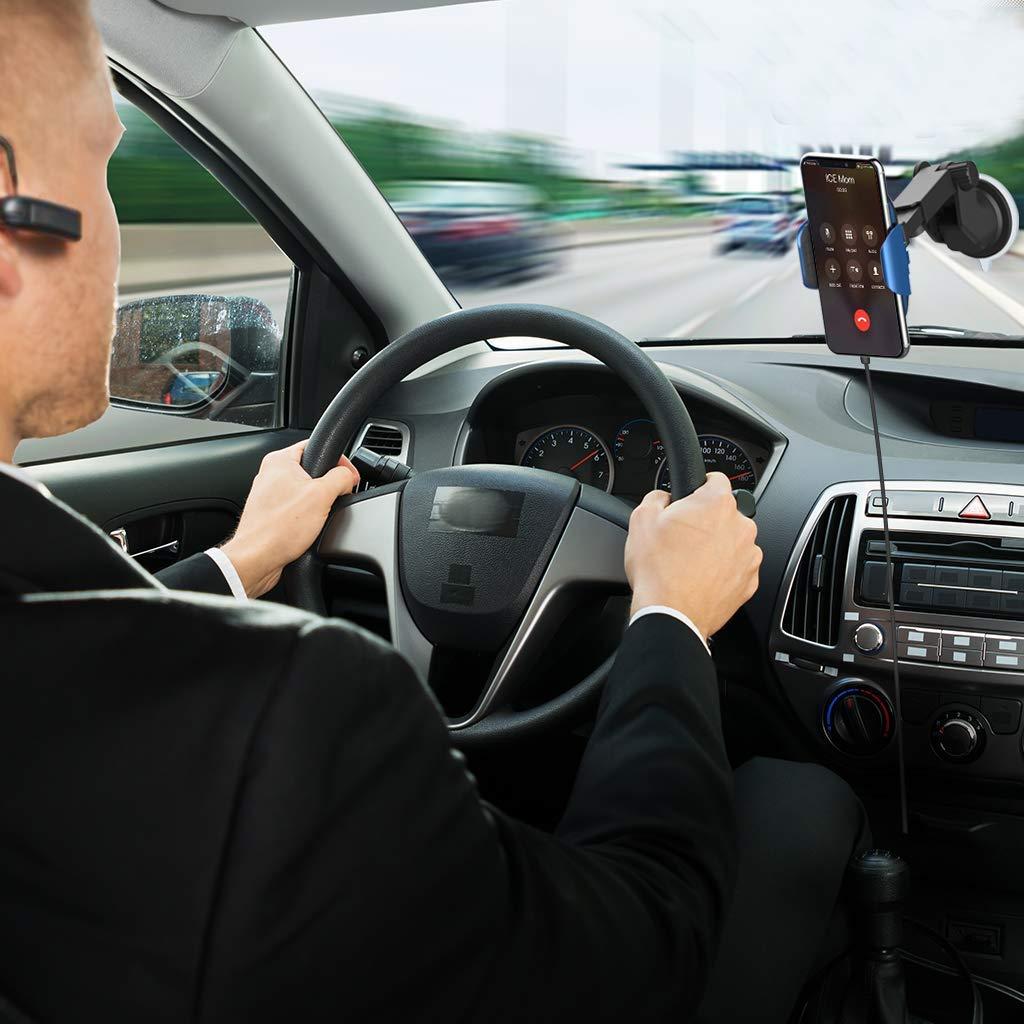 S6 Edge Samsung Galaxy s9// s8 // Note 5 S7 ZIGLINT Cargador inal/ámbrico Coche,R/ápido Cargador Qi con Infrarrojos Autom/ático de M/óvi 10//7.5 8//8 Plus 5W con Ventilaci/ón de Air para iPhoneX