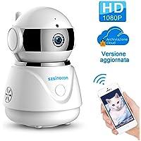 Telecamera ip, SZSINOCAM Telecamera di Sorveglianza 1080P Wireless P2P camera IR Rilevatore di movimento Audio Bidirezionale,Cloud,Modalità Notturna a Infrarossi, per casa / Animali domestici
