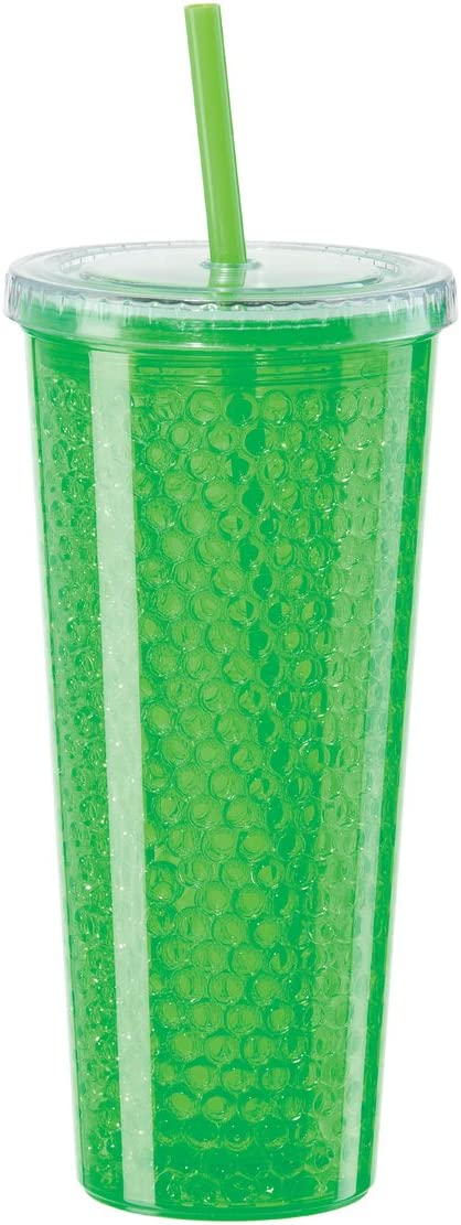 Oggi Double Wall Chill-To-Go Tumbler, 20-Ounce, Green