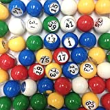 Multi Color Plastic Bingo Ball Set, Model: , Sport & Outdoor