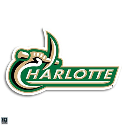 Amazoncom Unc Charlotte 49ers Logo Text Ultra Durable Decal 2