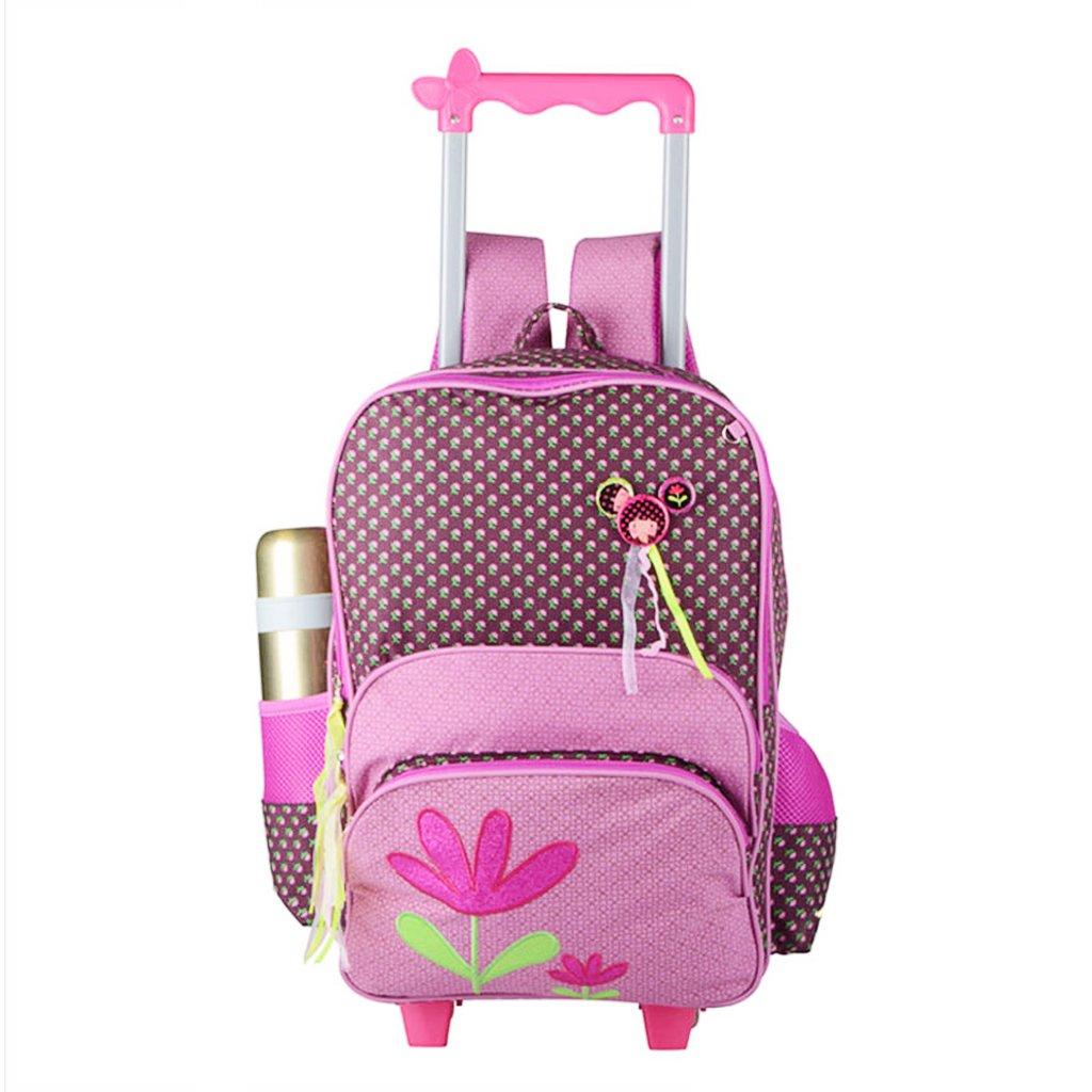 Enfants Sac à dos à Roulettes - Garçons Filles 3 Pièces Rolling Bag Chariot Cartable Sac d'école Primaire Sac d'école Imperméable