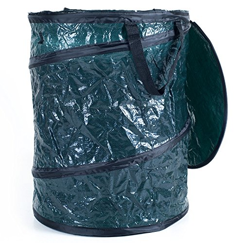 Texsport Collapsible Utility Bin with Lid, Waste Bin, Trash ()