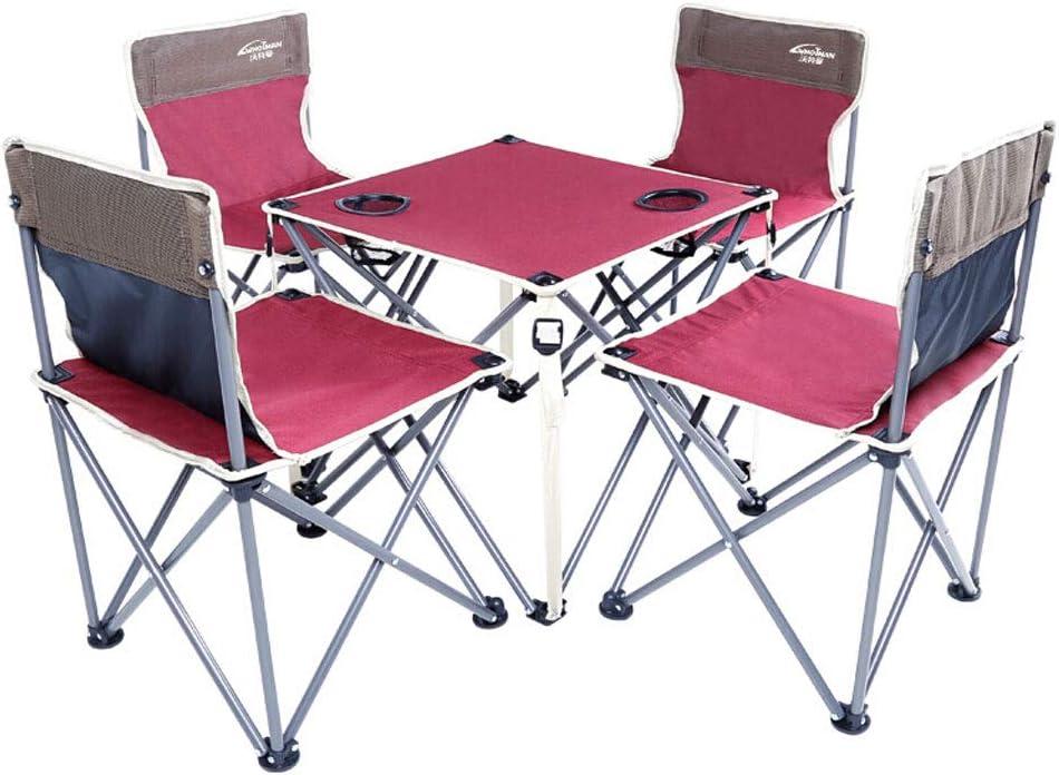 Mesas Plegables al Aire Libre portátiles Mesa Plegable Oxford Mesa y Silla de 5 Playa, Camping, Picnic, parrilladas y más: Amazon.es: Hogar